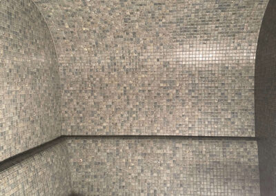 Entreprise de carrelage à Genève construction de Hammam spa mosaïque joints époxy